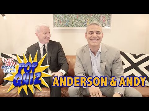 'Pop Quiz' with Anderson Cooper & Andy Cohen