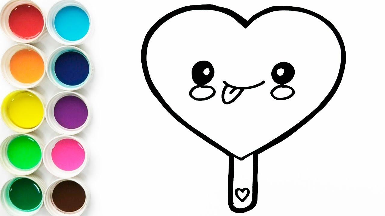 Como Dibujar Helado De Corazon Kawaii Dibujos Fáciles Para Niños Learn Colors Funkeep