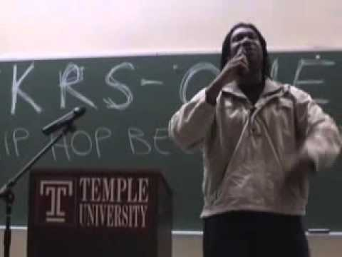 part 1 of KRS-ONE - Hip Hop Beyond Entertainment LECTURE