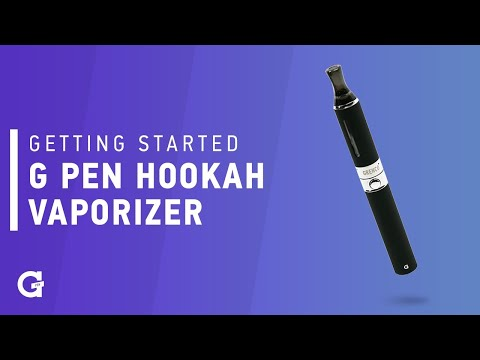 Getting started with your G Pen Hookah Vaporizer