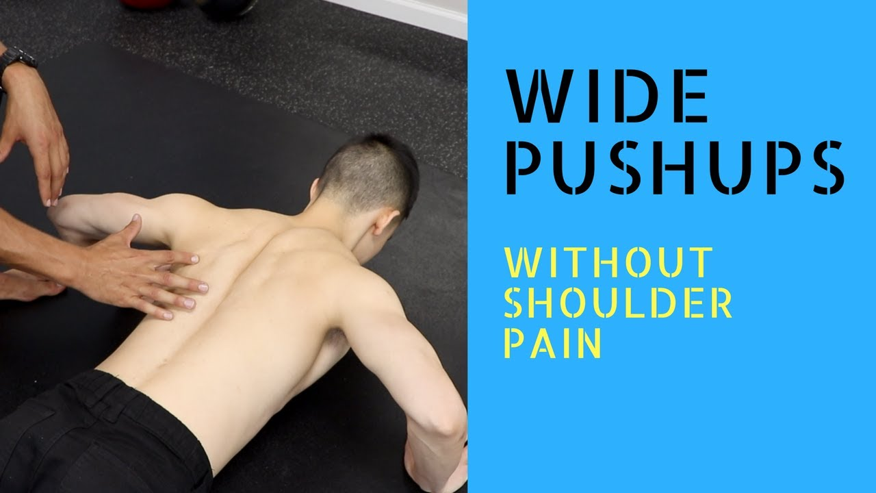 85060acee9ef STOP doing wide pushups WRONG! How to do wide grip pushups without shoulder  pain
