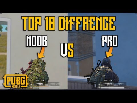 Top 10 Difference between NOOB and PRO in Pubg Mobile | Guide