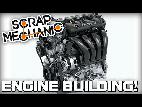 Building a 4 Cylinder Engine! (Scrap Mechanic Live Stream)