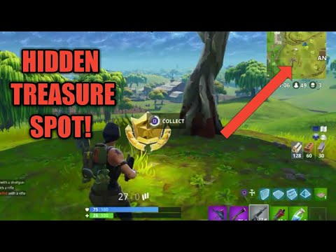 "Fortnite  ""TREASURE SPOT FOUND FIRST PERSON TO FIND! """