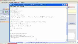 Injecting a Backdoor via PhpMyAdmin