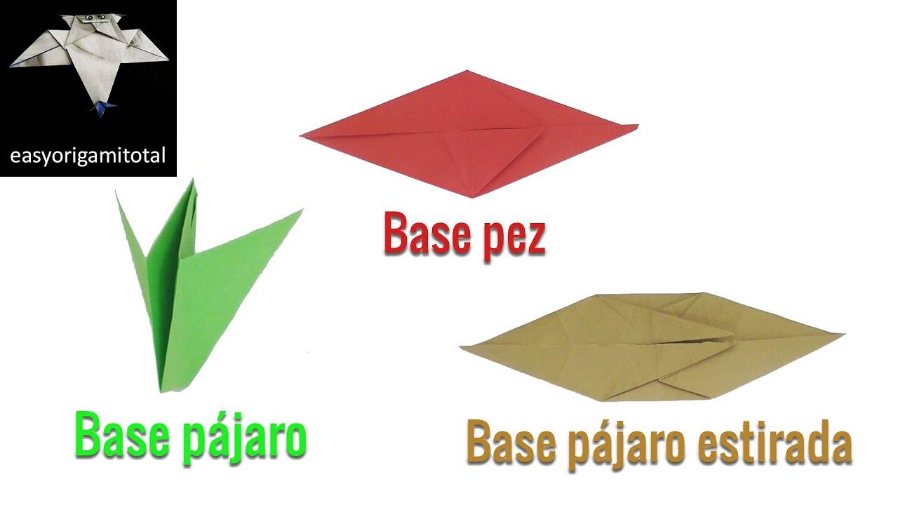 Base pájaro / Base pez / Base pájaro estirada