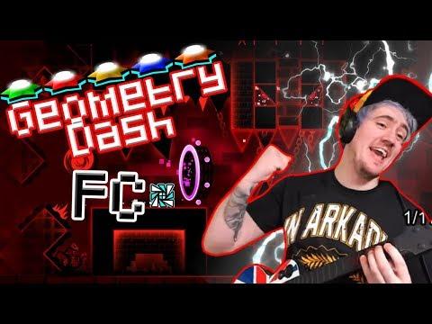 Geometry Dash + Guitar Hero = VERY WIGGLY FINGERS!!!