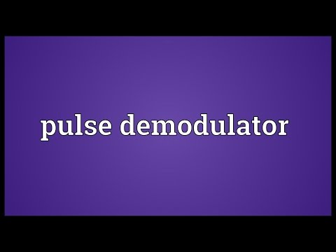 Pulse demodulator Meaning