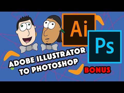 Illustrator Vector Art to Photoshop Tutorial thumbnail