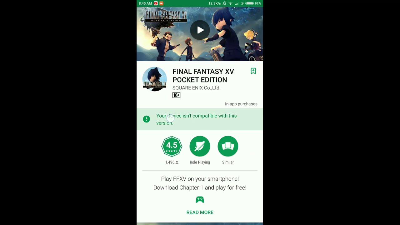final fantasy xv pocket edition apkpure