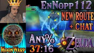 (Chat)[World Record] Any% New MoonWarp Route Speedrun (37:16.334) - Zelda: Majora's Mask