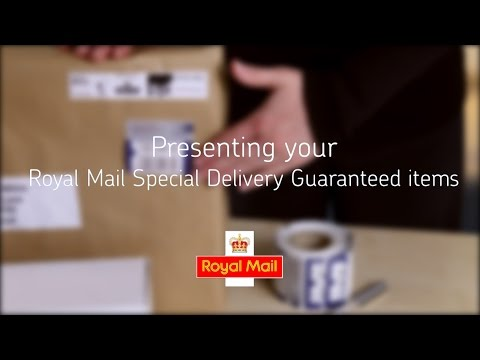 Help and support - Presenting your Royal Mail Special Delivery Guaranteed items