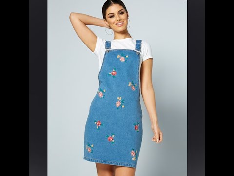 Studio - Denim Pinafore Dress #Studio #ladiesfashion #pinafore