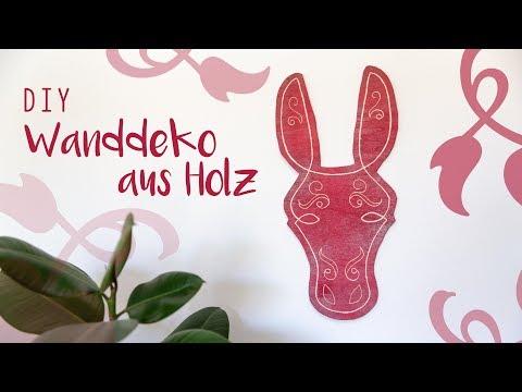 DIY Wanddeko Esel aus Holz