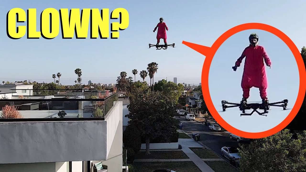 if you ever see this outside your house, lock all the doors and DON'T go outside!! (flying clown)