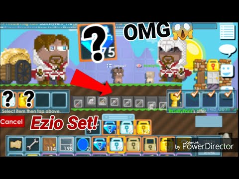 Buying Full Ezio Set! For? + Assasin Creed Set  NEW SETS! OMG!  Growtopia