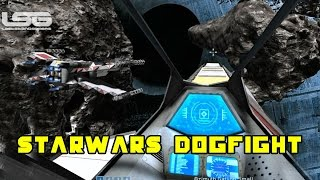 Space Engineers - Star Wars Dogfight, Destroy The Imperial Bunker