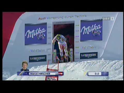 Marcel Hirscher 1e run Val d Isere December 2009