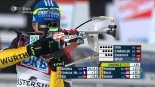 Biathlon Verfolgung der Männer in Östersund 2011