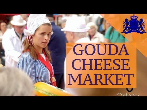 The Gouda Cheese Market • Traditional Dutch Market • THE NETHERLANDS