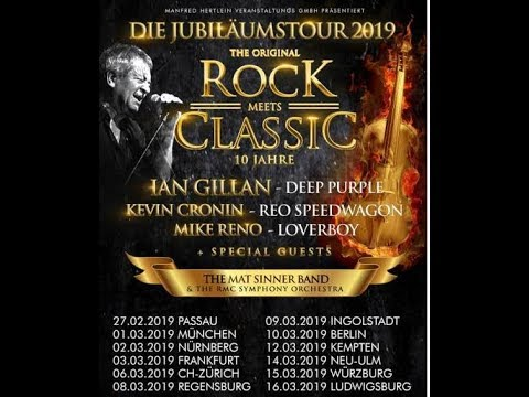 Rock Meets Classic tour Ian Gillan/Kevin Cronin/Mat Sinner band and more..! hits Germany in 2019