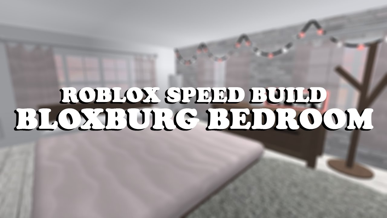 Roblox speed build 32 bloxburg bedroom remake youtube for Kitchen designs bloxburg