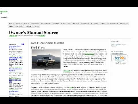 ford f150 owners manual free youtube rh youtube com 2001 Ford F-150 Fuse Diagram 2001 ford f150 supercrew owners manual pdf