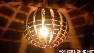 Wood Chandelier Resembling a Disco Ball From Hrvoje Vulama