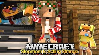 Minecraft Family #16 - MY STEPMOM IS ACTING WEIRD - Baby Duck Adventures