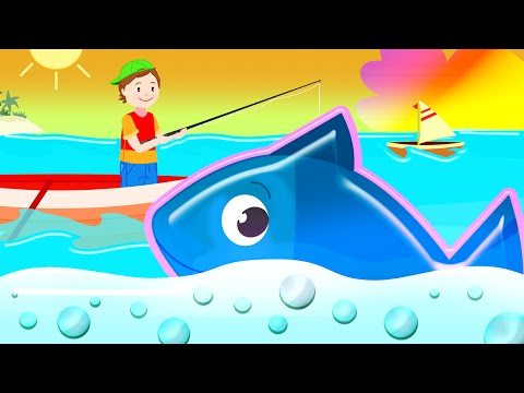 12345 Once I Caught a Fish A! Song for Children