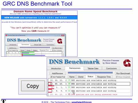 Free DNS Benchmarking tools