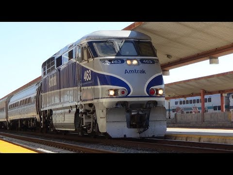 [HD] An Afternoon of Trains at Los Angeles Union Station