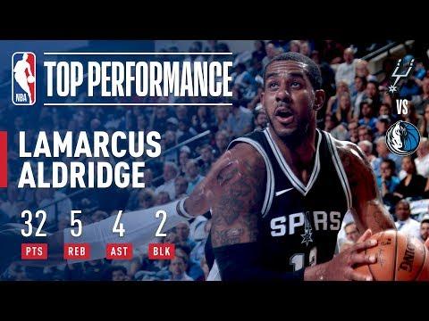 LaMarcus Aldridge Scores 32 In Dynamic Performance Against The Dallas Mavericks