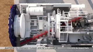 Yvelines | Baptême du premier tunnelier de la Ligne 18