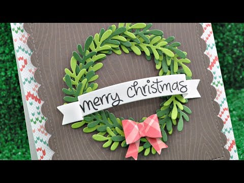 Intro to Mini Wreath and Large Wreath + a card from start to finish