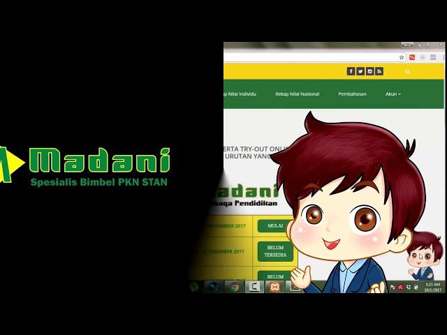 Try Out Online STAN Bimbel Madani - TO Seharga Nasi Rendang