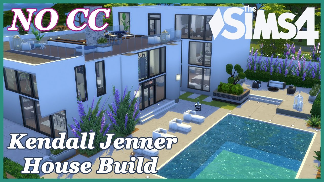 The Sims 4 Kendall Jenner House Tour No Cc