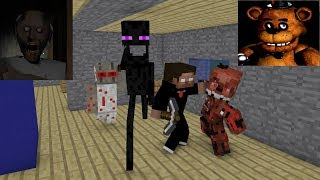 Monster School : GRANNY & FNAF HORROR CHALLENGE - Minecraft Animation thumbnail