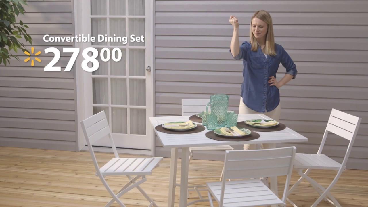 Convertible Dining Set Walmart Canada Youtube
