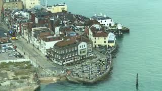 HMS Queen Elizabeth arrival in Portsmouth