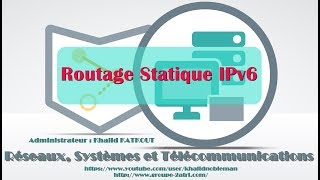 Configuration et Vérification du routage statique pour IPv6 (KHALID KATKOUT)