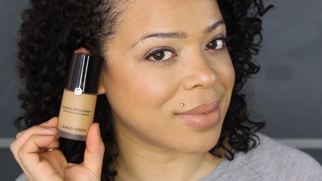 Giorgio Armani Luminous Silk Foundation Review Demo Shade 6 Youtube