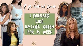 I dressed like rachel from FRIENDS for a week...
