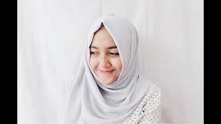 tutorial hijab agar muka tidak terlihat bulat radenrizka