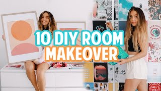 10 DIYS FOR EXTREME ROOM MAKEOVER! *apartment transformation + glow up