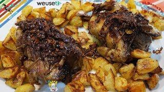 391 - Piccione arrosto lardellato con patate al forno...ci continuo a gira' intorno!(secondo tipico)