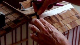 how to Make Dollhouse Miniature Shingles