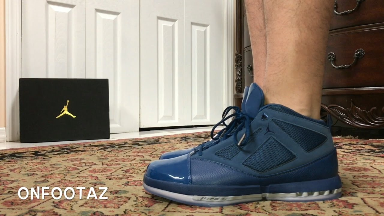 c820d900947 Air Jordan 16 XVI Trophy Room French Blue Without Strap On Foot - YouTube