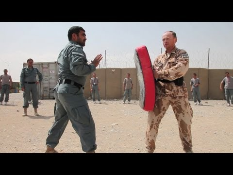 Afghan Uniform Police Self-Defense Training
