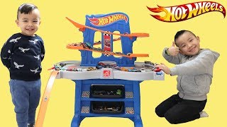 BIGGEST Hot Wheels Set Road Rally Raceway Unboxing Fun Playtime With Ckn Toys